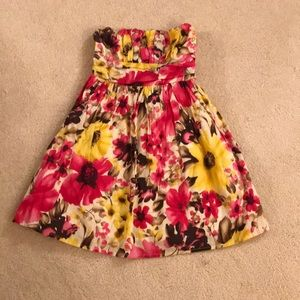 Forever 21 XS Floral Strapless Dress
